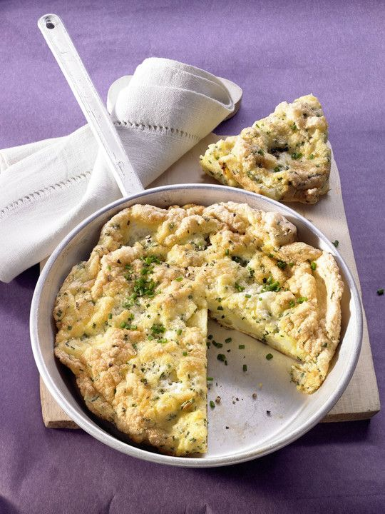 Irisches Omelett mit Kartoffeln und Schnittlauch
