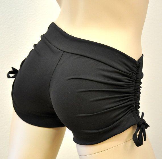 Hot Yoga Shorts Black Item 4050. $36.00, via Etsy.