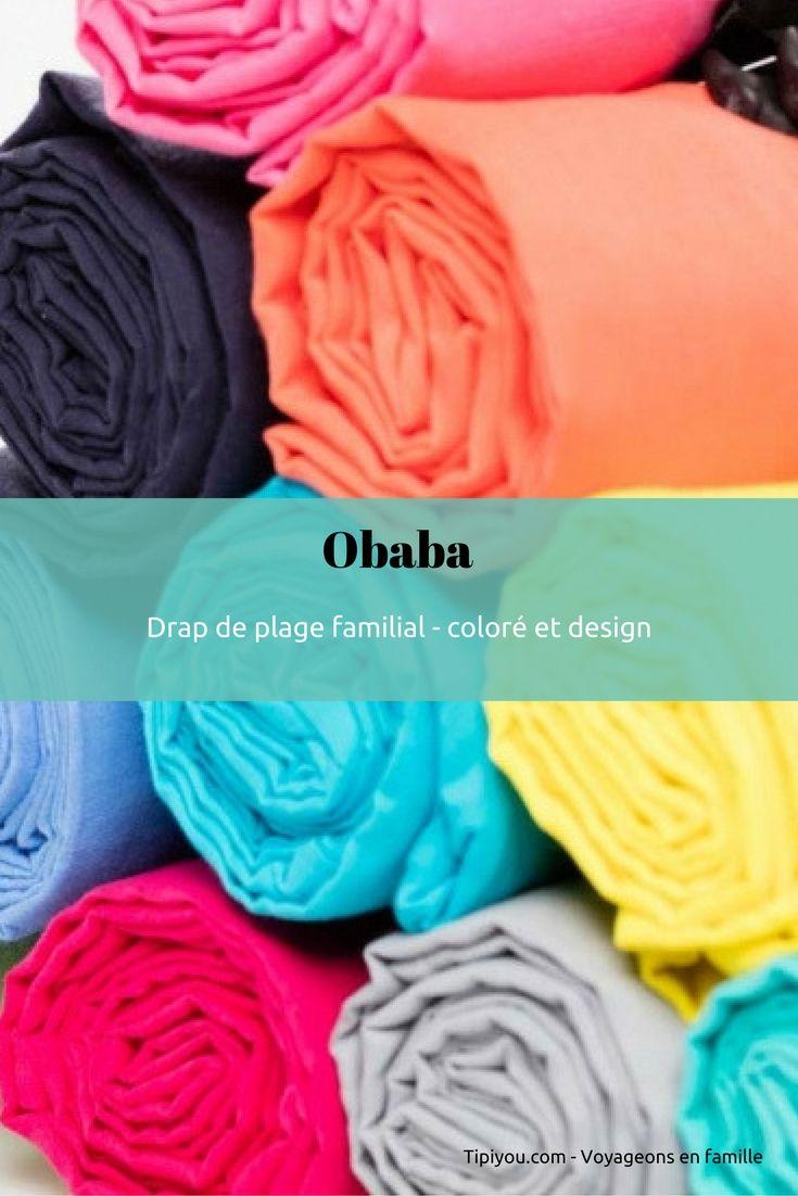 Obaba, le grand drap de plage familial design et coloré. Made In France. Sur Tipiyou, la boutique des voyageurs
