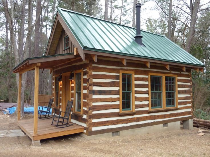Exterior: Rustic Wood Cabin Exterior Finishes