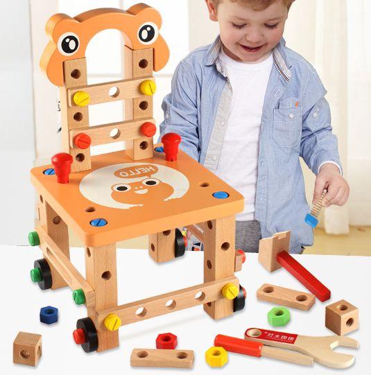 Alibaba グループ | AliExpress.comの モデル作成キット からの 2016新しいlubanjiangチェア多機能ツールナットワイヤーコンビネーション子パズルの組み立て木製ブロック玩具 中の 2016新しいlubanjiangチェア多機能ツールナットワイヤーコンビネーション子パズルの組み立て木製ブロック玩具