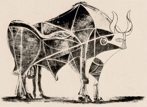 Spanish Bull by Pablo Picasso Canvas Print Wall Art Framed Surrealism Artwork