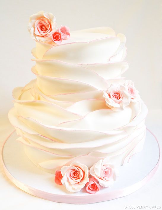 Rose Petal Cake - GORGEOUS!