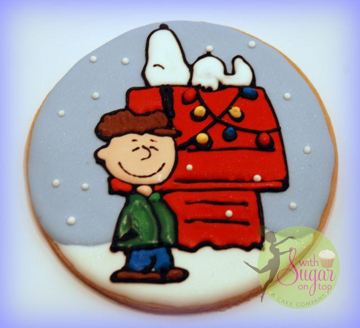 Charlie Brown & Snoopy Christmas Cookie