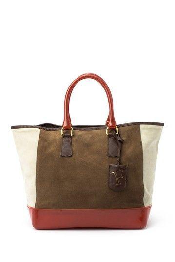 Vintage Furla Suede Tote Bag