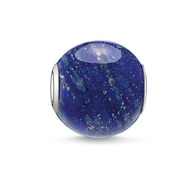 Thomas Sabo Silver & Lapis Lazuli Karma Bead K0071-592-1 at John Greed Jewellery
