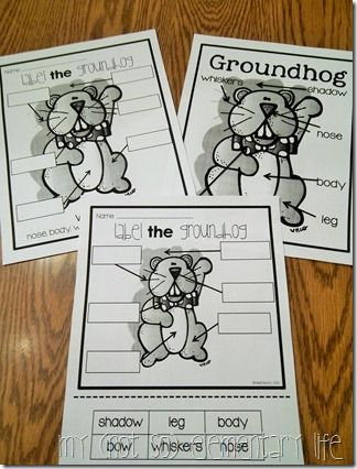 Groundhog's Day Labeling Activity: A Part of a Unit and Craft pack