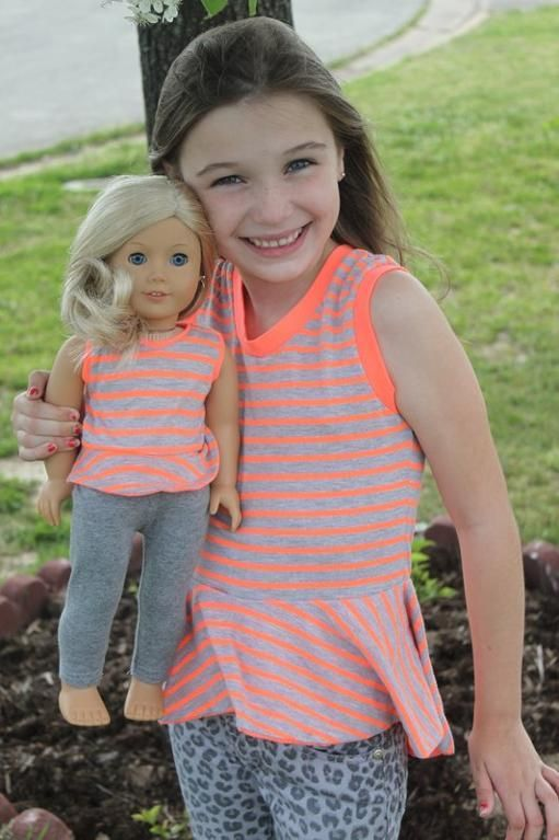"Sassy Knit Peplum Top / 15"" and 18"" dolls / $3.95  (Coles Creations)"