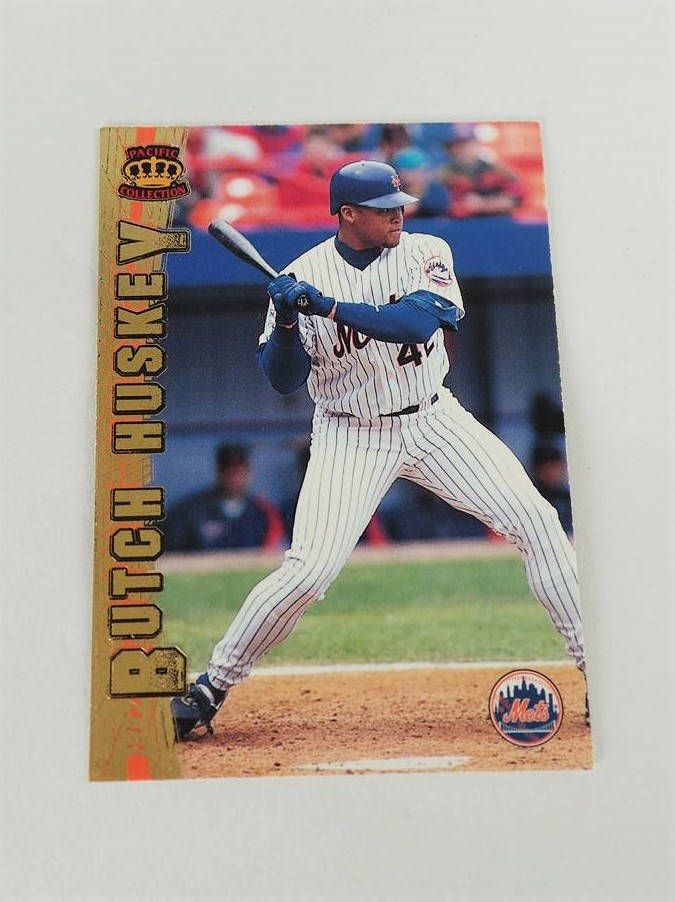Vintage 1997 Pacific Crown Collection #366 Butch Huskey New York Mets Card - Collectible Baseball Cards by NadyasVintageNook on Etsy