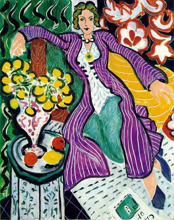 Matisse: Woman in a Purple Coat  (Web page contains short biography)