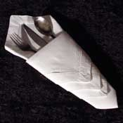 Napkin folding tutorial.  Many different styles with photo instructions.