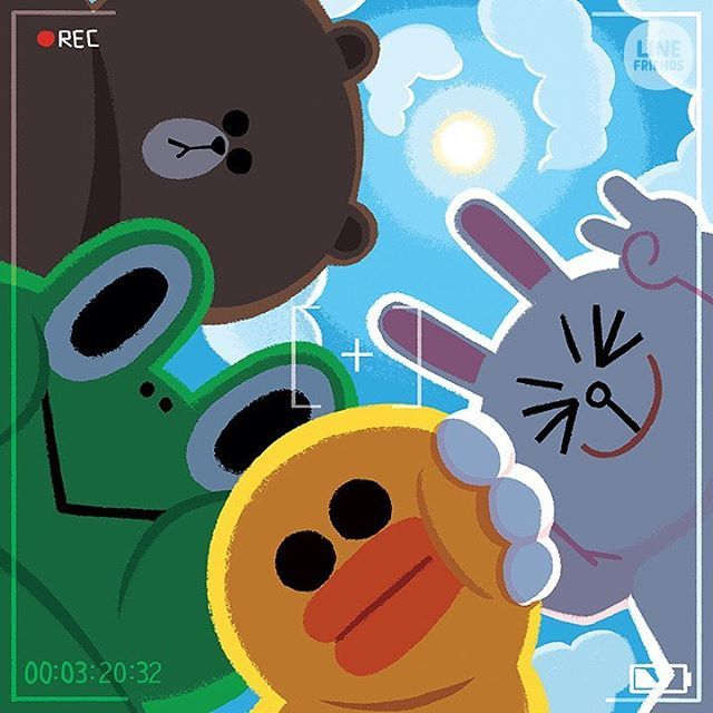 Excuse me, Sally~ Could you...? #LINEFRIENDS #BROWN #CONY#SALLY #LEONARD #takeapic
