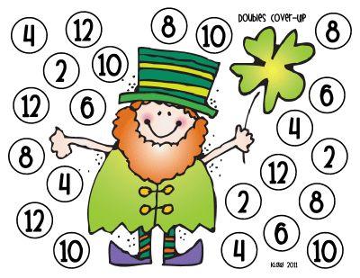 Spelletje om het dubbelen te oefenen.. Speel in tweetallen. Ieder een werkblad en 1 dobbelsteen. Dobbel en verdubbel de ogen. Kleur het vakje met het juiste getal. Je kan er ook fiches of pepernoten op laten leggen..  Wie het eerst zijn werkblad vol heeft, heeft gewonnen!