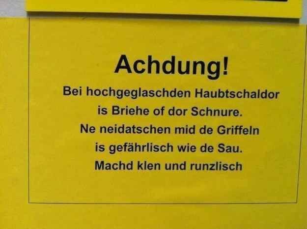 Sächsische Weisheiten