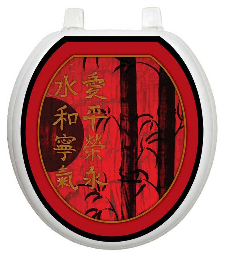Themes Red Delight Toilet Seat Decal