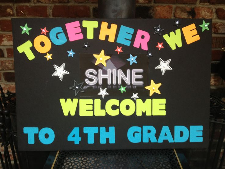 Twinkly white lights illuminate this welcome back to school poster. It is created on black foam poster board. Lights are battery operated, and made with thin wires for ease in creating posters. It was a fun and easy project!