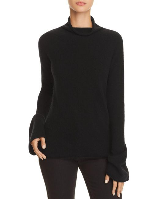 db589d28ba1 Theory - Black Bell-sleeve Cashmere Sweater - Lyst