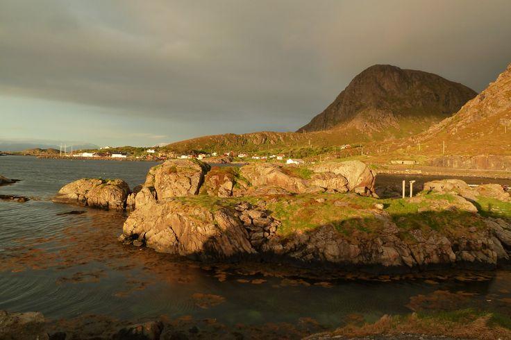 Mitternachtssonne Midtnattsola Vesteraalen Norge Norway Midnight Sun