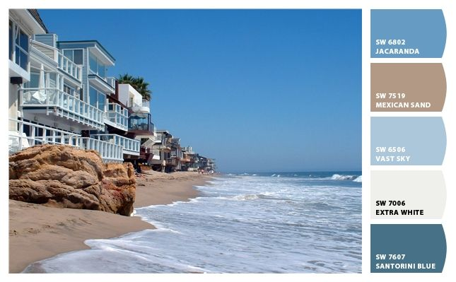 Beach Paint colors from Chip It! by Sherwin-Williams