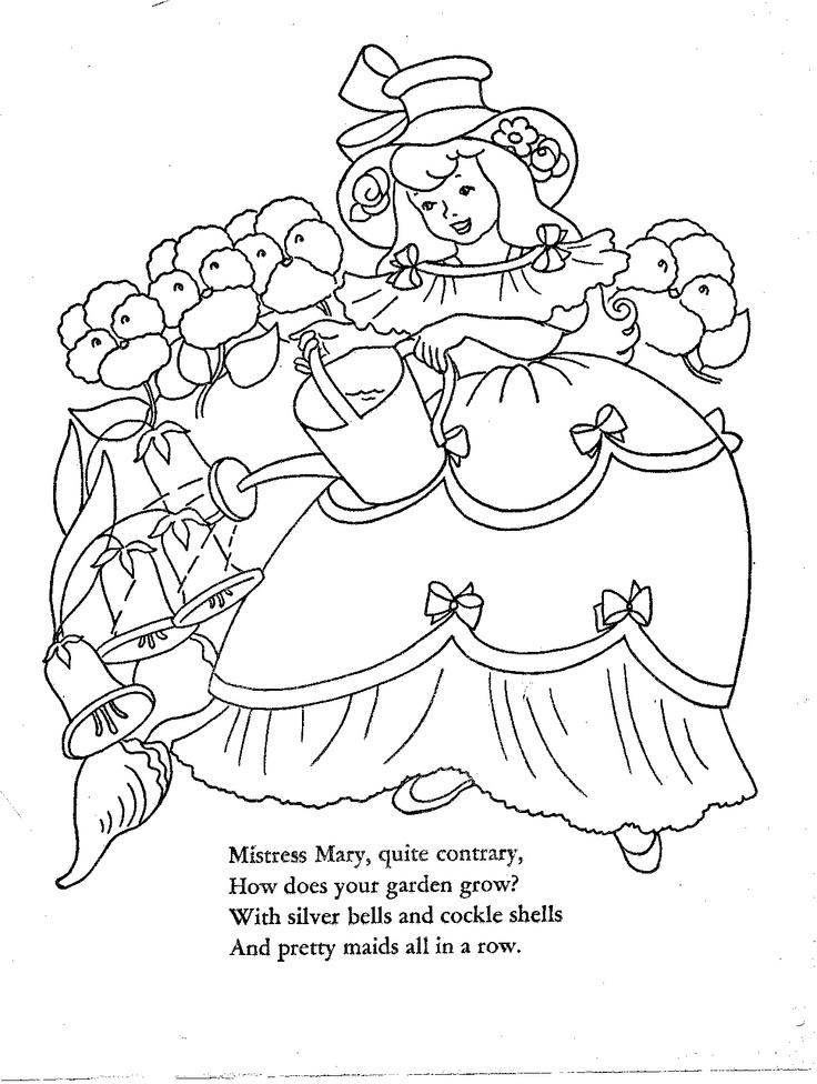 1952 Mother Goose Cut Out Coloring Book