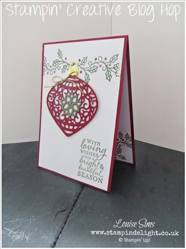The Stampin' Creative blog hop is back with a heap of Sneak Peek inspiration from the new Stampin' Up! Holiday catalog 2015.