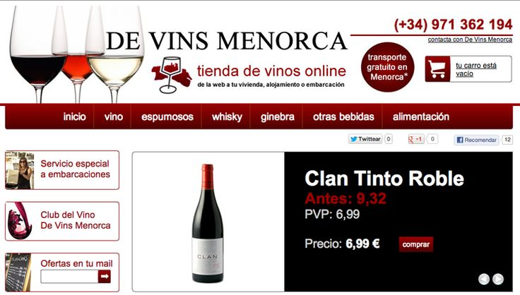 www.devinsmenorca.com Tienda Online de De Vins Menorca #kodeaweb