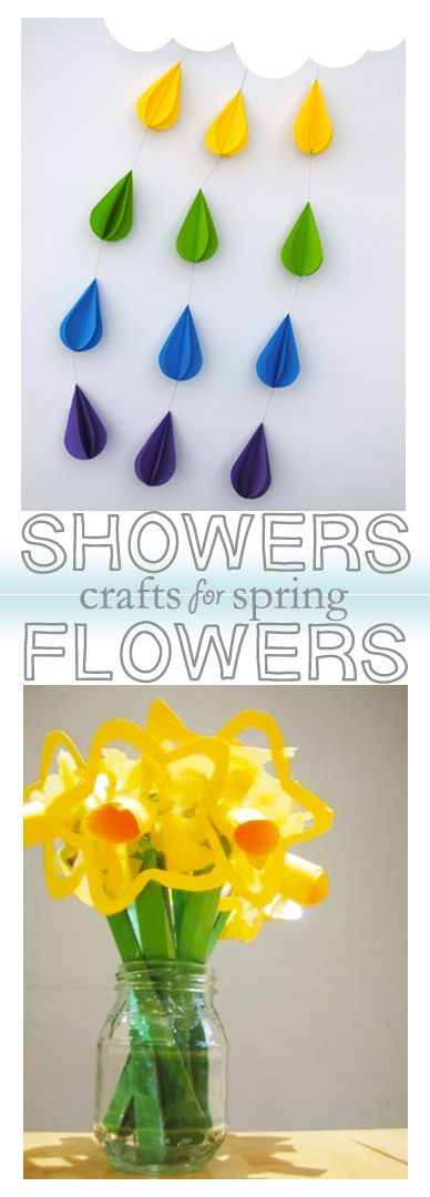 Spring crafts and DIYs for kids: showers and flowers edition.