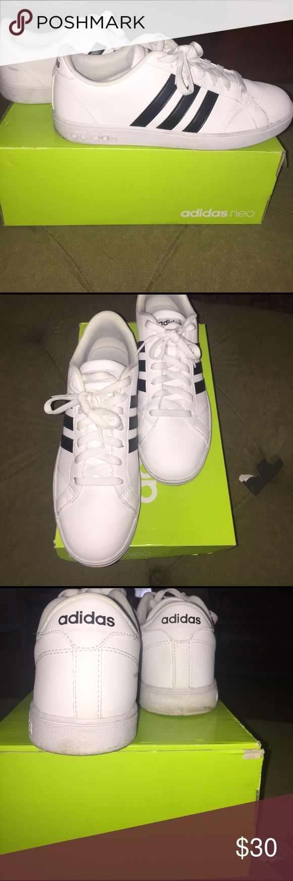 Adidas Neo sneakers size 9.5 Lightly worn adidas neo sneakers. Will come with original box and new shoelaces! Size 9.5.. pictures show signs of wear, but can easily be cleaned to look new! Originally $69 Adidas Shoes Sneakers