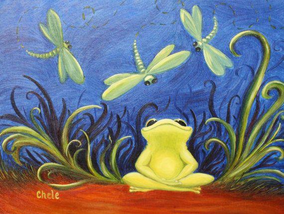 Twinkle Frog Art Print- Original Artwork