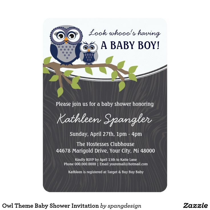 46 best Owl baby shower invitations, girls, boys or twin images on ...
