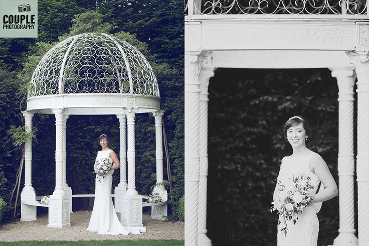 Beautiful, vintage style photos of the bride. A very art nouveau bride. Weddings at The Keadeen Hotel Photographed by Couple Photography.