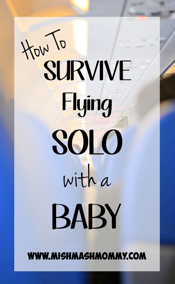 flying solo with baby