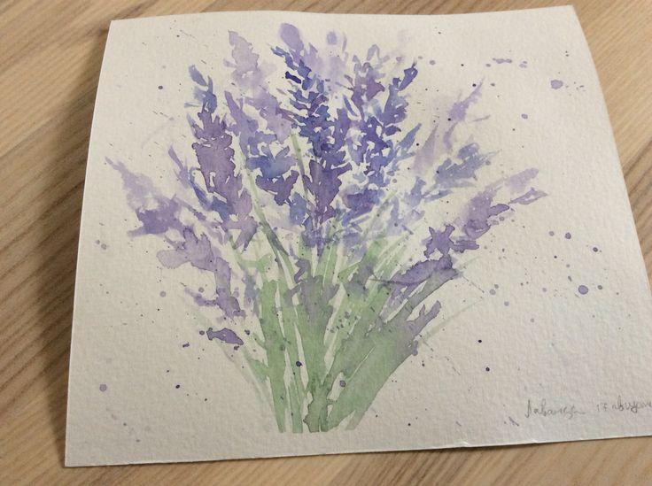 Lavender, watercolor. #watercolor#flower#spring