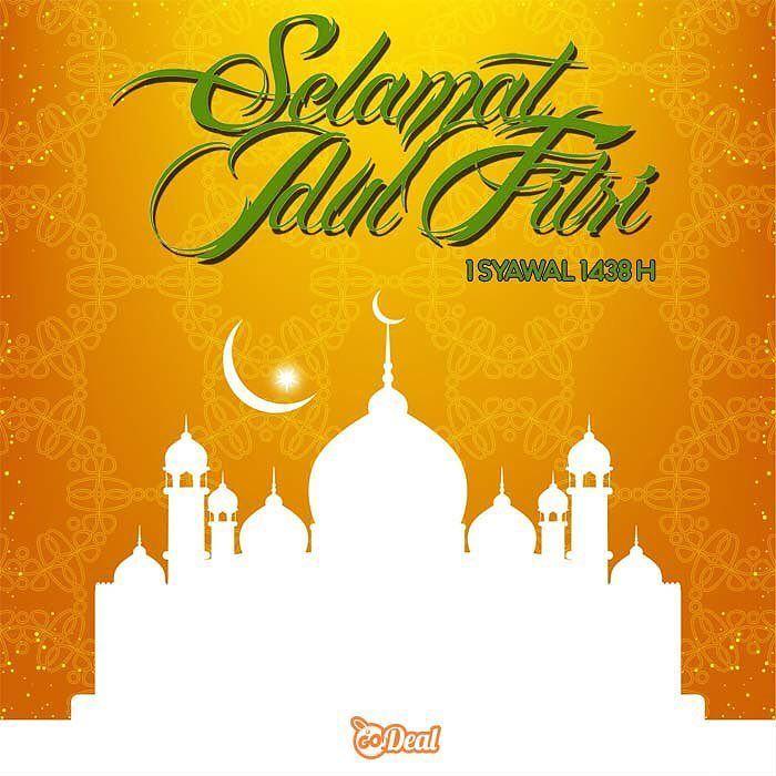 """Kami keluarga besar GoDeal mengucapkan """"Selamat Hari Raya Idul Fitri 1 Syawal 1438H"""" Mohon Maaf Lahir dan Batin"""