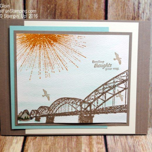 Wherever You Go, Stampin' Up!, watercolor