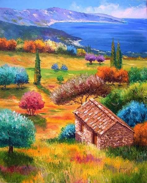 Méditerranée - Jean-Marc JANIACZYK, French landscape painter