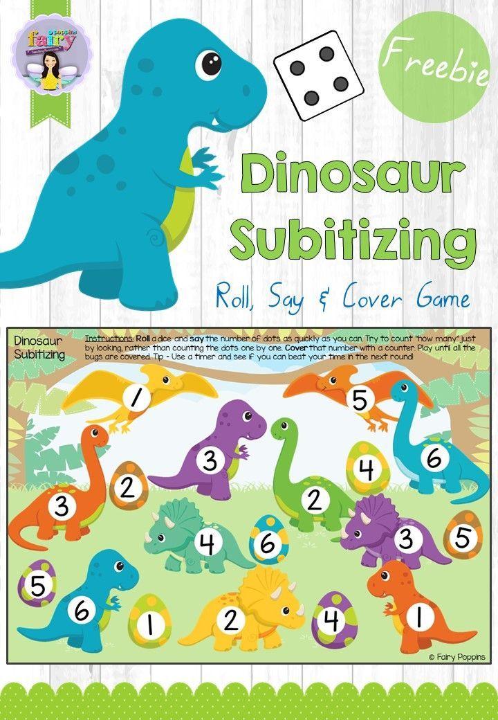 Dinosaur Subitizing Game | Free Printables | Dinosaur ...