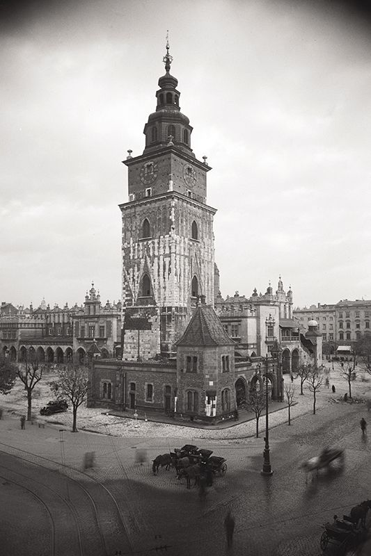 Town Hall on the main square in Cracow. 1934