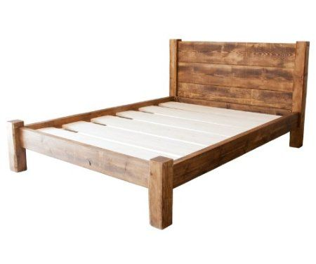 funky chunky furniture wood wooden bed frame single double king size with headboard and storage room