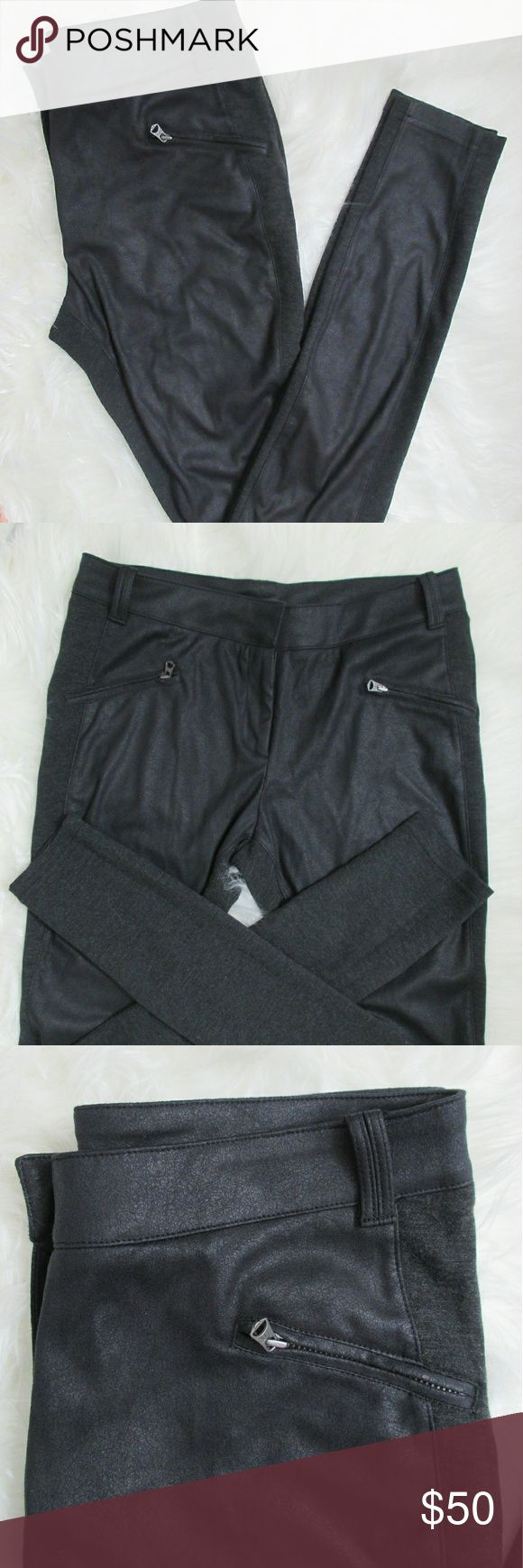 Armani Exchange - Leggings With Front Leather ▪ Used but in good conditions.  ▪ Leggings Armani Exchange Pants Leggings