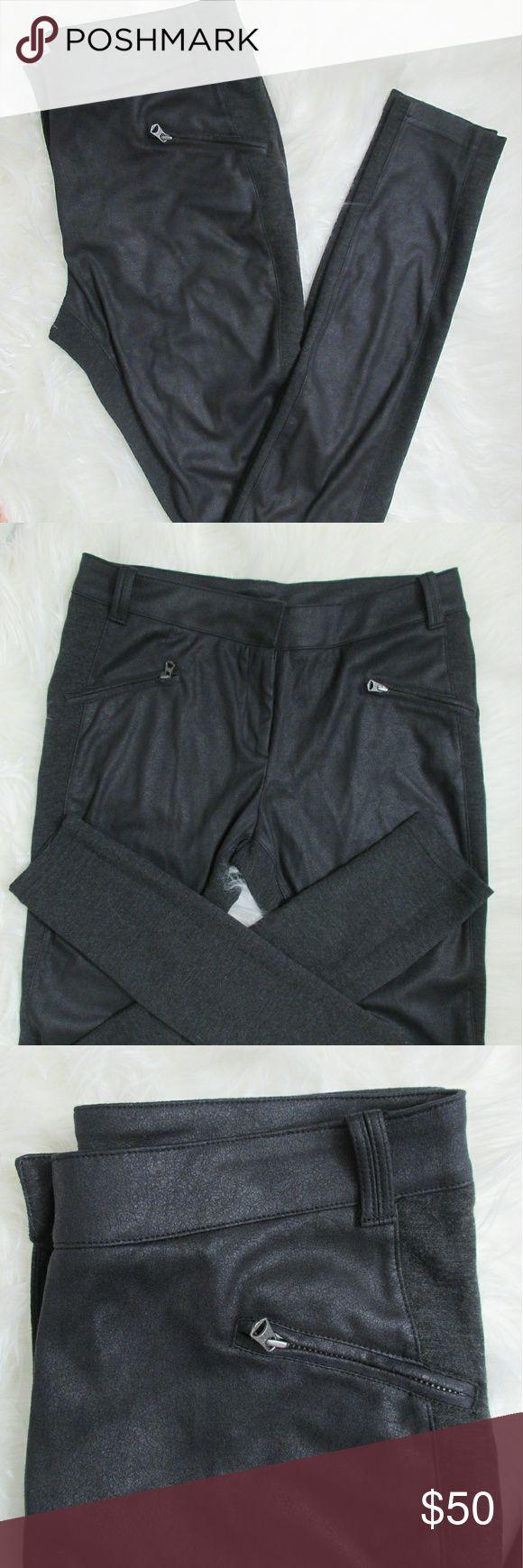 Armani Exchange - Pants with front leather ▪ Like new  ▪ stretchy Material Armani Exchange Pants Leggings