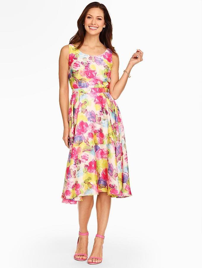 Watercolor Rose Full Dress