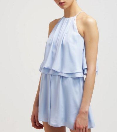 Miss Selfridge Kombinezon krótki błekitny blue