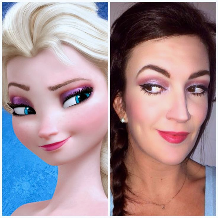 How to recreate Princess Elsa's eye makeup from the Disney movie 'Frozen' #princessmakeup #pink #purple http://www.jennysuemakeup.com/2014/01/makeup-inspired-by-disneys-frozen.html