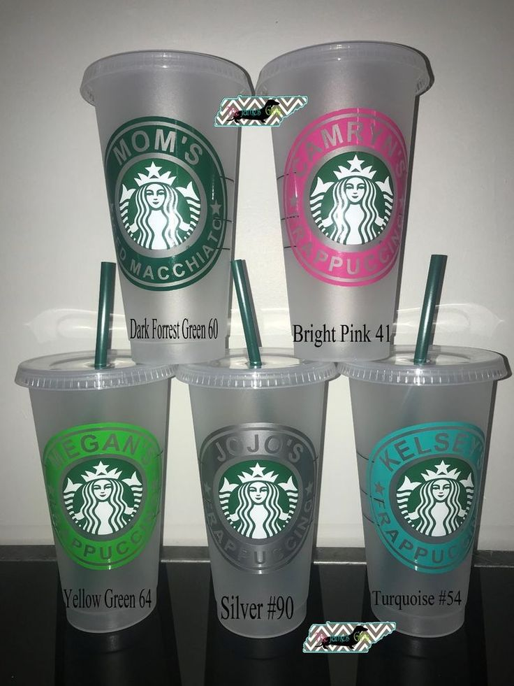 Personalized Starbucks Reusable Frappuccino Cold Tumbler
