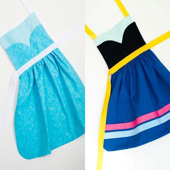 Disney's Frozen princess Anna and Elsa dress up apron ... | Kids stuff