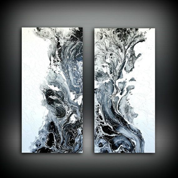 Abstract Art Original Painting Acrylic Painting Abstract Painting, Black and White Wall Hanging, Extra Large Wall Art, Wall Decor 48 x 48