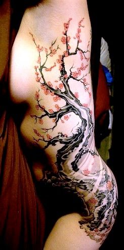 cherry blossom tattoo side body - Google Search