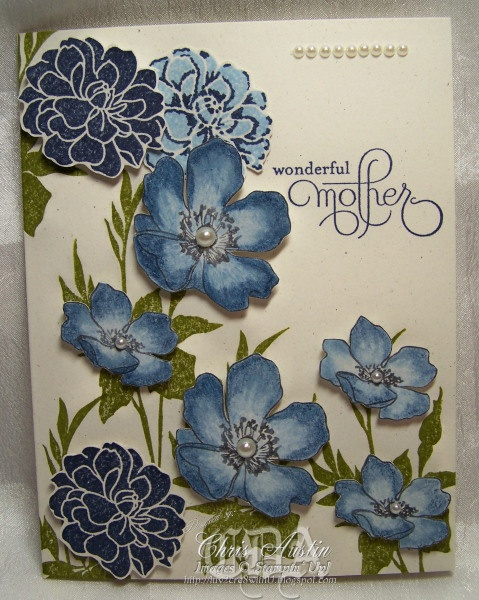"""#stampin'up! #""""Fabulous Florets"""" by Chris Austin. For My handmade greeting cards visit me at My Personal blog: http://stampingwithbibiana.blogspot.com/"""