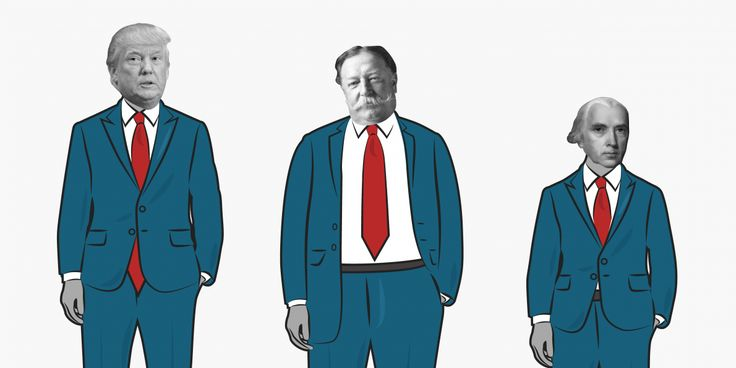 This video shows all of the US presidents in order of height http://www.businessinsider.com/video-shows-us-presidents-height-order-obama-trump-lincoln-bush-2017-4?utm_campaign=crowdfire&utm_content=crowdfire&utm_medium=social&utm_source=pinterest